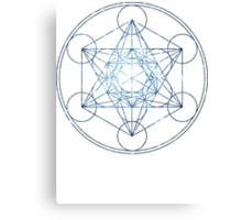 Metatron's Cube [The Blue Stars] | Sacred Geometry Canvas Print