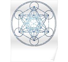 Metatron's Cube [The Blue Stars] | Sacred Geometry Poster