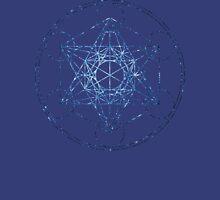Metatron's Cube [The Blue Stars] | Sacred Geometry Unisex T-Shirt