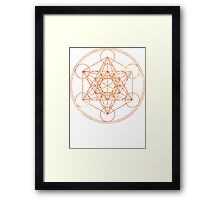 Metatron's Cube [The Red Moon] | Sacred Geometry Framed Print