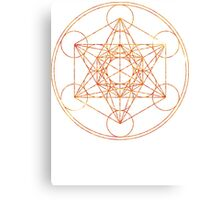 Metatron's Cube [The Red Moon] | Sacred Geometry Canvas Print