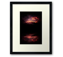 Night Sky and River 3 Framed Print