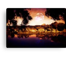 Night Forest and River 3 Canvas Print