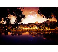 Night Forest and River 3 Photographic Print