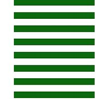 Green and White Hoops Banded Design Photographic Print