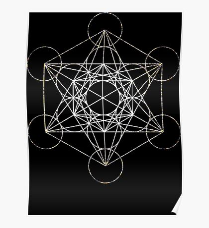 Metatron's Cube [Tight Cluster Galaxy]   Sacred Geometry Poster