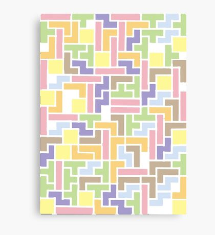 Back To The Old Us (Tetris) Canvas Print