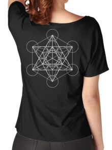 Metatron's Cube + Star of David | Sacred Geometry Women's Relaxed Fit T-Shirt