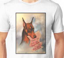 Doberman Pinscher~Red~Dog~Thank You~Love~Card Unisex T-Shirt