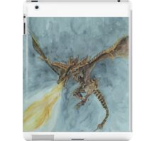 Elder Dragon Watercolor and Ink Painting iPad Case/Skin