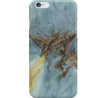 Elder Dragon Watercolor and Ink Painting iPhone Case/Skin