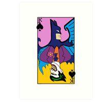 Batman/Joker Dual Card  Art Print