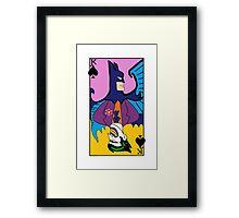 Batman/Joker Dual Card  Framed Print