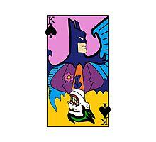 Batman/Joker Dual Card  Photographic Print