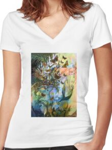 CLASSIC VICTORIAN Women's Fitted V-Neck T-Shirt