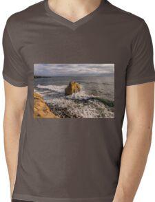 Bird Rock at Sunset Mens V-Neck T-Shirt