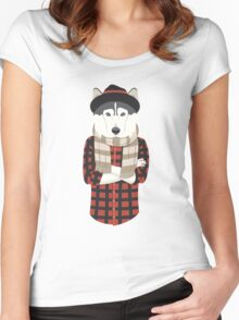 Hipster Husky Women's Fitted Scoop T-Shirt