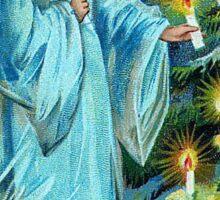Vintage Angel Christmas Greeting Card Sticker