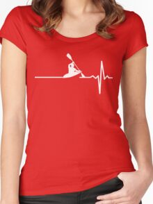 Rowing heartbeat Women's Fitted Scoop T-Shirt