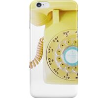 call me (yellow) iPhone Case/Skin