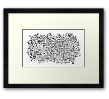 Abstract Composition #1 black lines Framed Print