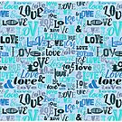 Love Typography Blue by SpiceTree