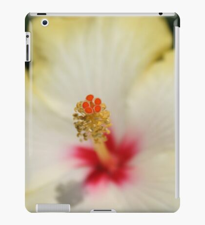 Close Up of Stamen And Pollen Yellow Hibiscus iPad Case/Skin