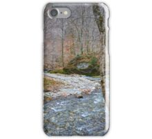 River flowing through mountain iPhone Case/Skin