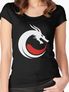 dragon cool logo Women's Fitted Scoop T-Shirt