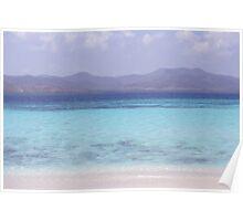 Blue Beach Poster
