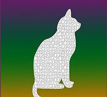 White kitty by JoAnnFineArt