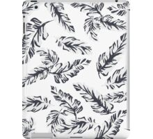 Tropical Leaves - White iPad Case/Skin