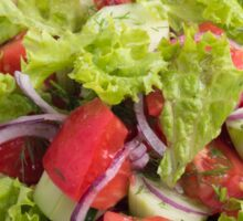 Fragment of vegetarian salad from fresh vegetables closeup Sticker