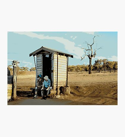 THERES NO PAPER, OUTBACK DUNNY Photographic Print