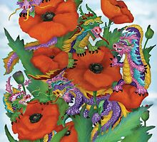 Dragons and Poppies by Kim  Harris