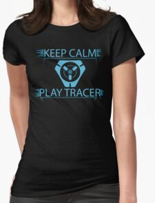 Overwatch - Keep Calm and Play Tracer Womens Fitted T-Shirt