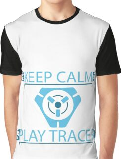 Overwatch - Keep Calm and Play Tracer Graphic T-Shirt