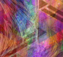 Magnetic Abstraction - By John Robert Beck Sticker