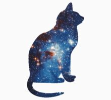 cat blue cosmic One Piece - Long Sleeve