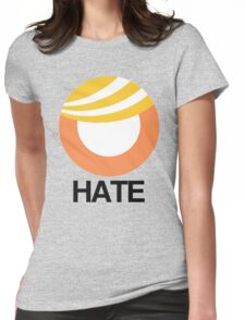 Trump Hate Logo Womens Fitted T-Shirt