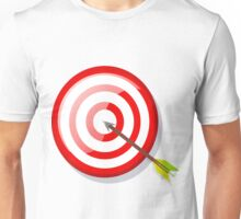 Shooting target with an arrow in its middle Unisex T-Shirt