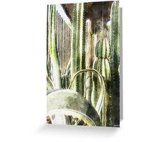 Cactus Garden Watercolor Greeting Card