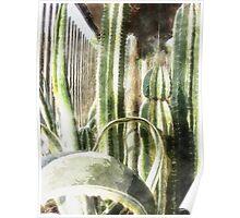 Cactus Garden Watercolor Poster