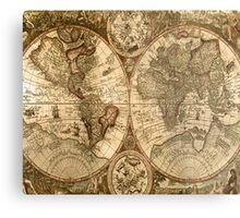 Old World Map  Metal Print