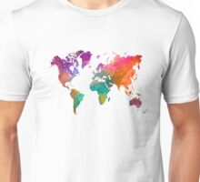 World map in watercolor 25 Unisex T-Shirt