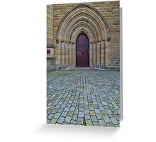 St Saviours Cathedral Doorway Greeting Card