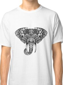 Abstract Elephant Art Black Classic T-Shirt