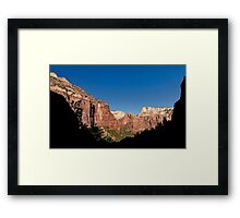 Kayenta Trail Panorama - Zion National Park  Framed Print