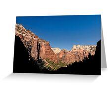 Kayenta Trail Panorama - Zion National Park  Greeting Card