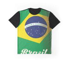 Brasil national flag vintage travel poster Graphic T-Shirt
